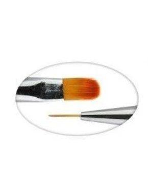 מברשת דו צדדית לג'ל (למריחת ג'ל וציור) Double-Sided Gel Brush No.6
