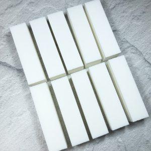 סט 10 יח' בלוק לבן איכותי לשיוף ציפורניים (באפר)