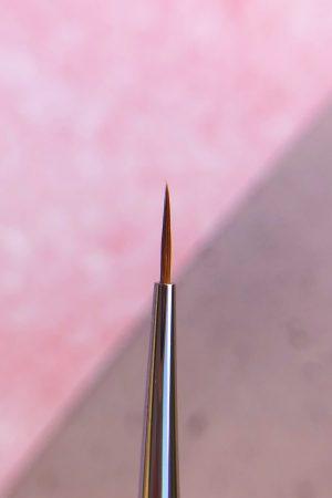 מכחול דק לציור – גודל 0 רובלוף (שיער קולינסקי) Proffesional Brush Roubloff (למבנה אנטומי, מריחה צמודה, פרנץ' וציורים בג'ל)