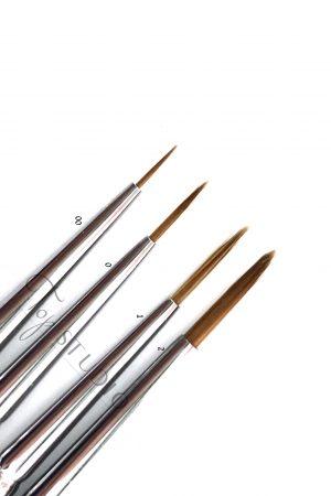 סט 4 מכחולי ג'ל איכותיים רובלוף (00,0,1,2) Proffesional Brush Set Roubloff