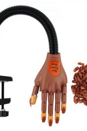 יד אימון מתכווננת מקצועית – Nail trainer practice hand