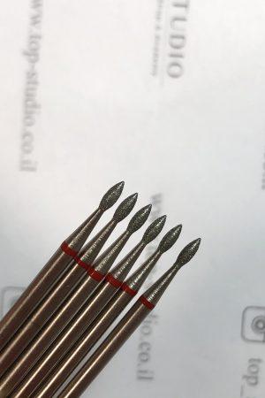 ראש מניקור – טיפה מוארכת 0.16 (אדום) תוצרת רוסיה