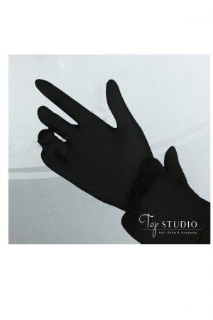 כפפות ניטריל שחורות ללא אבקה – מידה Small