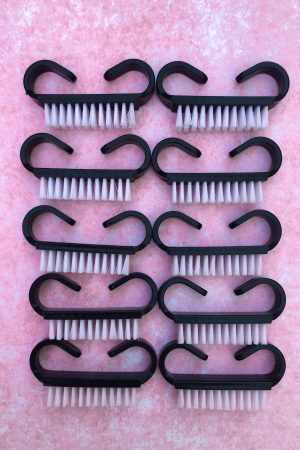 10 יח' מברשות קטנות לניקוי אבק שיוף הציפורניים – שחור