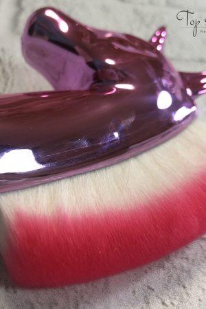 מברשת חד קרן מעוצבת ואיכותית לניקוי אבק ציפורניים (ורוד) Unicorn Professional Brush