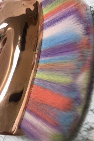 מברשת חד קרן מעוצבת ואיכותית לניקוי אבק ציפורניים (צבעונית) Unicorn Professional Brush