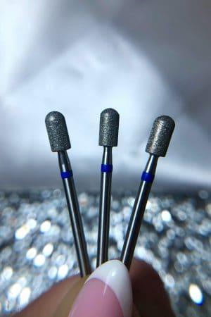 ראש מניקור Premium – צילינדר (לקקן/אגס) 0.40 (כחול) תוצרת רוסיה