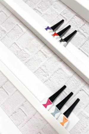 """זוג (2 יח') מדפי קיר איכותיים לאחסון בקבוקי לק – 55*5*6 ס""""מ (לבן)"""