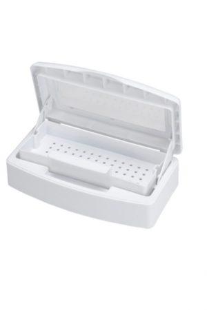 סטריליזטור פלסטיק לחיטוי כלי עבודה עם מגש נשלף (לבן)