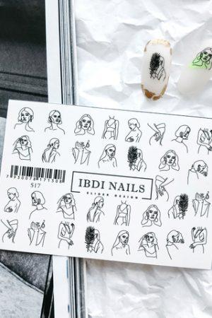 מדבקות מיוחדות לעיצוב ציפורניים – סליידר IBDI Nails 517