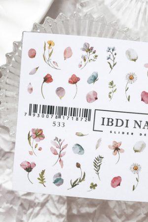 מדבקות מיוחדות לעיצוב ציפורניים – סליידר IBDI Nails №533