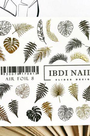 מדבקות מיוחדות לעיצוב ציפורניים – סליידר IBDI Nails AIR FOIL 08