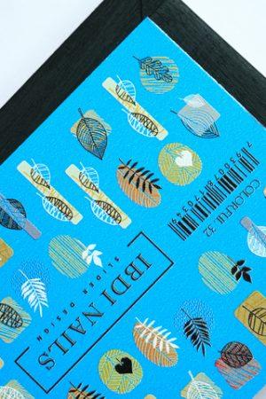 מדבקות מיוחדות לעיצוב ציפורניים – סליידר IBDI Nails COLORFUL №32