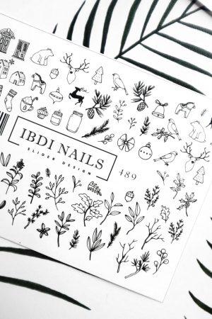 מדבקות מיוחדות לעיצוב ציפורניים – סליידר IBDI Nails №489