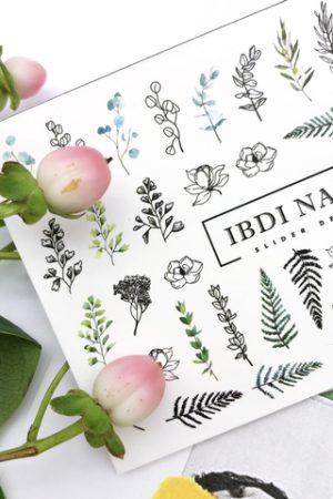 מדבקות מיוחדות לעיצוב ציפורניים – סליידר IBDI Nails №477
