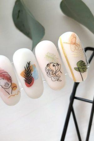 מדבקות מיוחדות לעיצוב ציפורניים – סליידר IBDI Nails №496