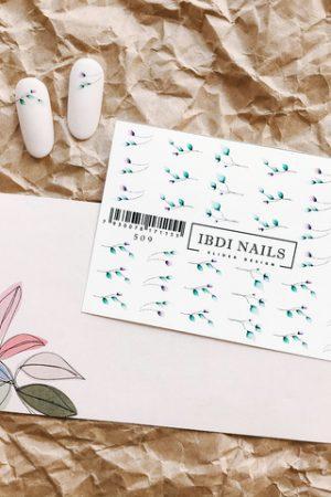 מדבקות מיוחדות לעיצוב ציפורניים – סליידר IBDI Nails №509