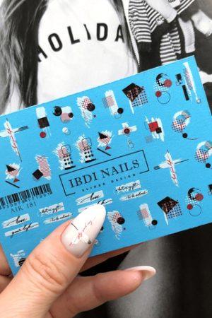 מדבקות מיוחדות לעיצוב ציפורניים – סליידר IBDI Nails AIR 181