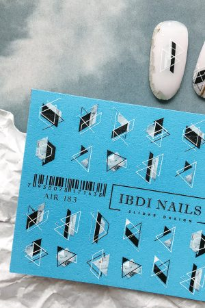 מדבקות מיוחדות לעיצוב ציפורניים – סליידר IBDI Nails 183