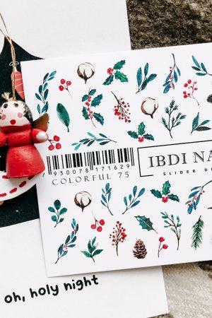 מדבקות מיוחדות לעיצוב ציפורניים – סליידר IBDI Nails COLORFUL №75