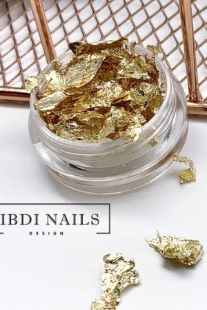 נייר פויל איכותי לקישוטי ציפורניים (מוכן וקל לשימוש) IBDI – גוון זהב Gold Color