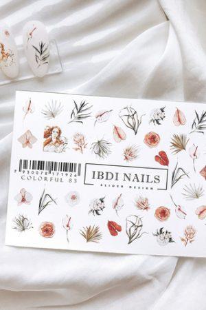 מדבקות מיוחדות לעיצוב ציפורניים – סליידר IBDI Nails COLORFUL №83