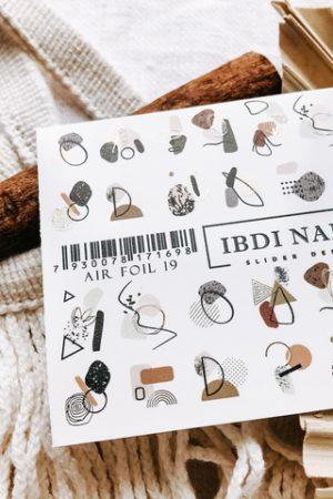 מדבקות מיוחדות לעיצוב ציפורניים – סליידר IBDI Nails AIR FOIL 19
