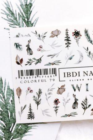מדבקות מיוחדות לעיצוב ציפורניים – סליידר IBDI Nails COLORFUL №79