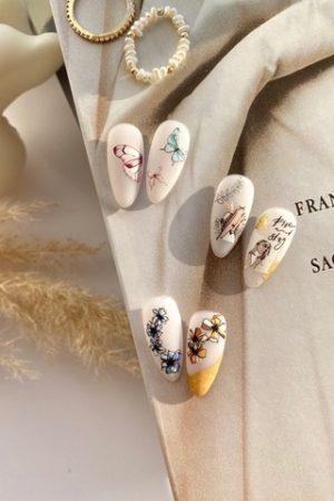 מדבקות מיוחדות לעיצוב ציפורניים – סליידר IBDI Nails COLORFUL №86