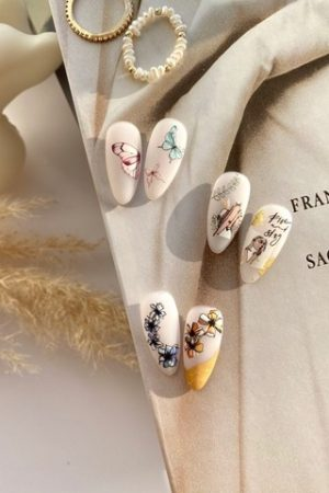 מדבקות מיוחדות לעיצוב ציפורניים – סליידר IBDI Nails COLORFUL №82
