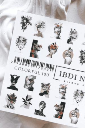 מדבקות מיוחדות לעיצוב ציפורניים – סליידר IBDI Nails COLORFUL100