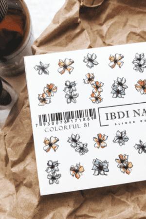 מדבקות מיוחדות לעיצוב ציפורניים – סליידר IBDI Nails BRANDCOLOR81