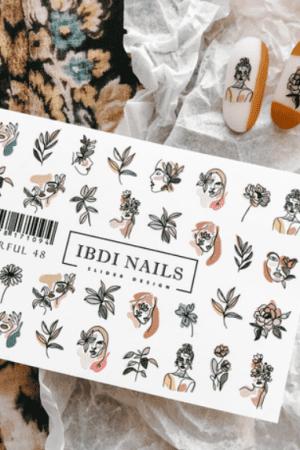 מדבקות מיוחדות לעיצוב ציפורניים – סליידר IBDI Nails COLORFUL48