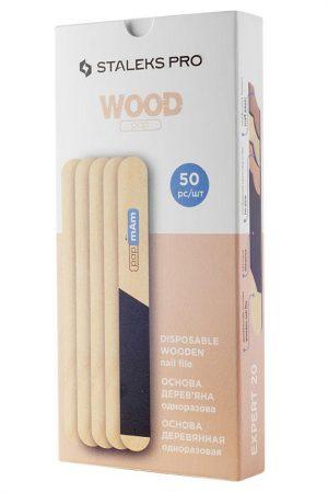 50 יח' בסיסי עץ לפצירות המתחלפות של סטאלקס – Staleks PAP MAM Wood Base