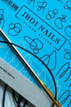 מדבקות מיוחדות לעיצוב ציפורניים – סליידר IBDI Nails AIR 170