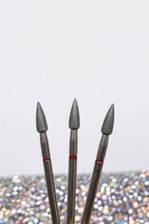 ראש מניקור – להב חרוט קצה גלילי 0.31 (אדום) תוצרת רוסיה