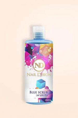 נוזל בלו סקראב לחיטוי, איזון רמת הPH וייבוש לוחית הציפורן לפני מריחת ג'ל – N&D Blue Scrub
